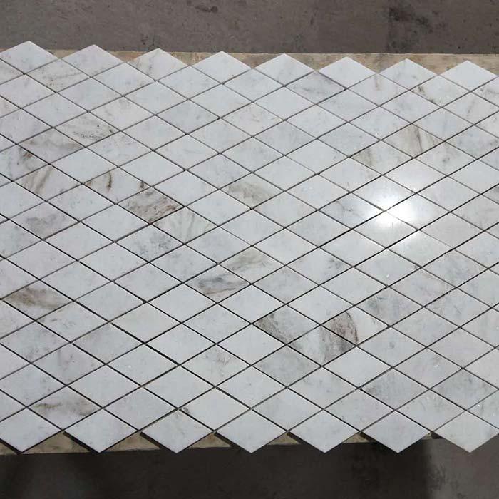 Diamond mosaic Calacatta Umber