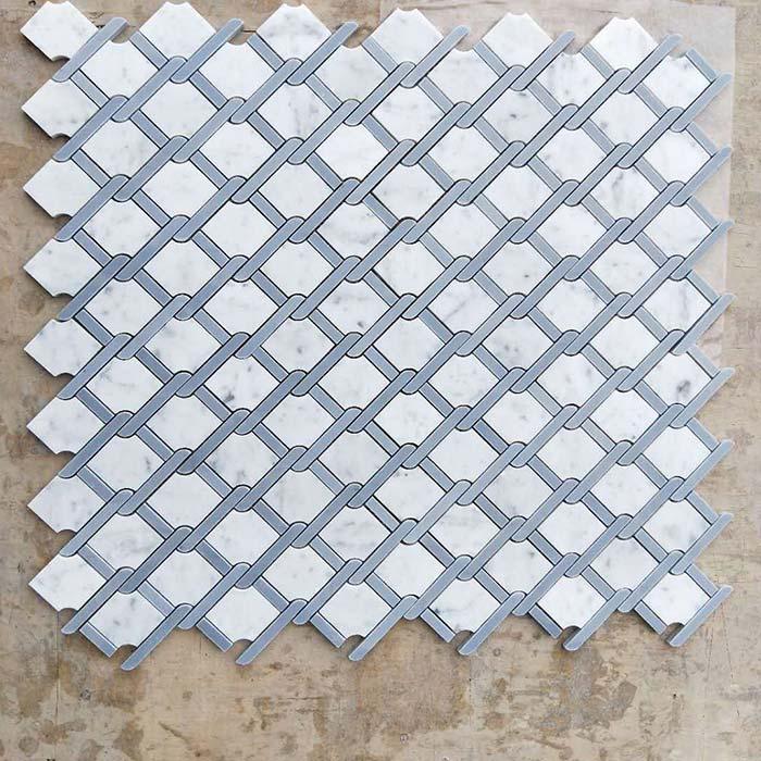 Wire Mesh Mosaic Bianco Carrara