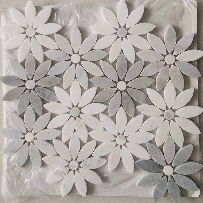 WJM Flower Waterjet mosaic