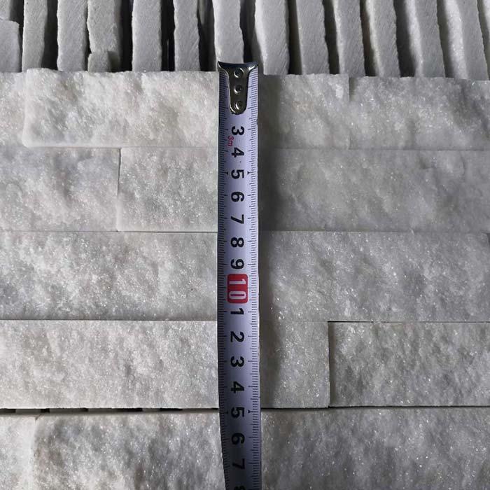 White Quartzite Ledgestone Natural Split in 15x60cm