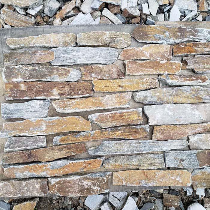 Golden Slats Thin Stone Veneer