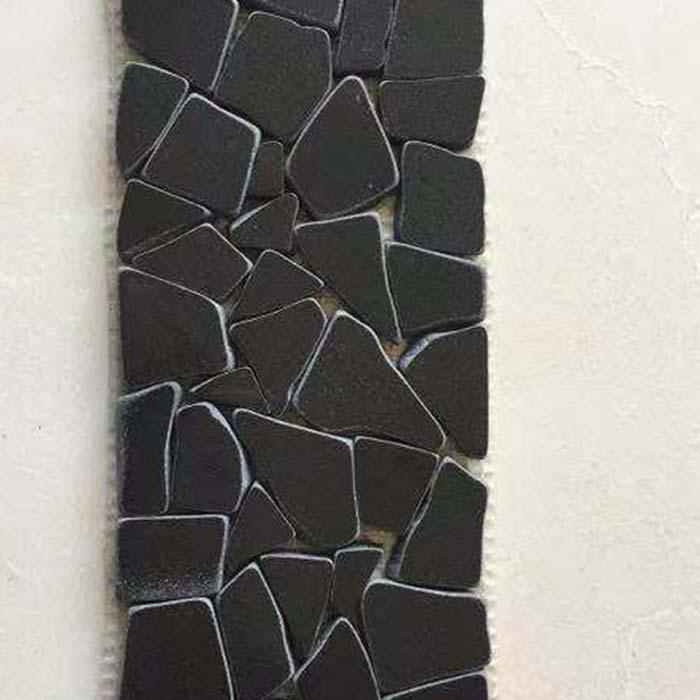 Classic Black Polished Pebble Mosaic