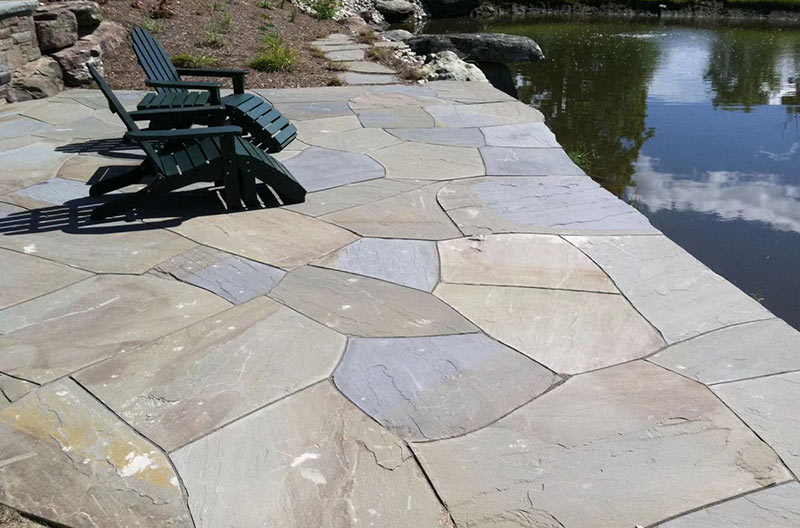 Paving stone in patio -Sandstone