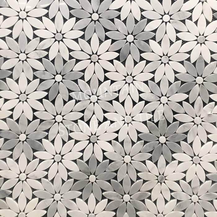 WJM Flower Waterjet mosaic