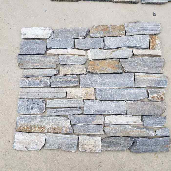 Blue Quartzite Ashlar Thin Stone Veneer