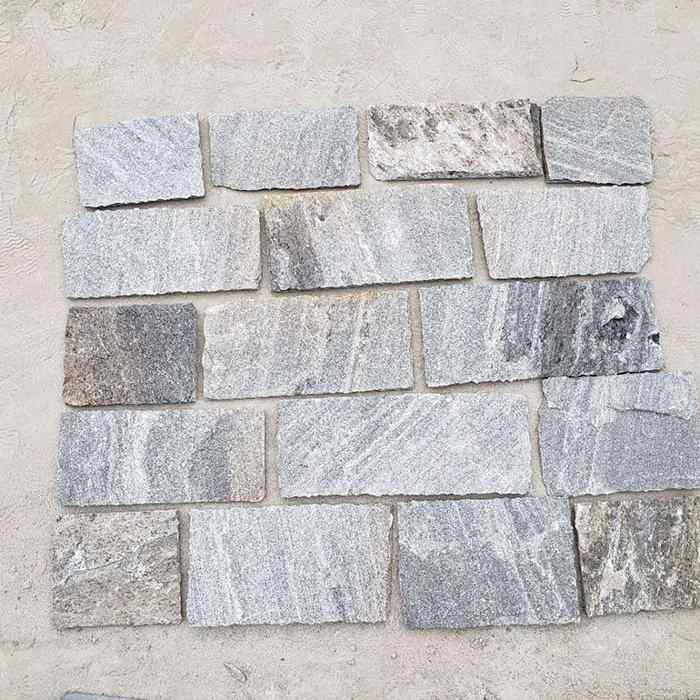 Grey Quartzite Thin Stone Veneer